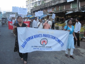 Peoples' march against corruption in Silchar, Assam on 1 May 2001 (image-2)