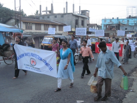 Peoples' march against corruption in Silchar, Assam on 1 May 2001 (image-3)