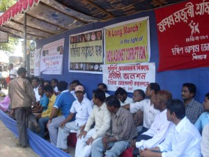 People of Barak valley fast for Jan Lokpal Bill at Silchar on 8 June, 2011 (3)
