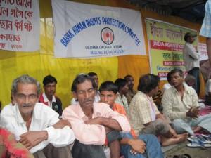 Demonstration demanding release of Akhil Gogoi in Silchar on 1 July, 2011 (1)