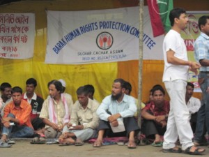 Demonstration demanding release of Akhil Gogoi in Silchar on 1 July, 2011 (2)