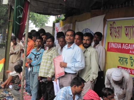 Demonstration demanding release of Akhil Gogoi in Silchar on 1 July, 2011 (3)