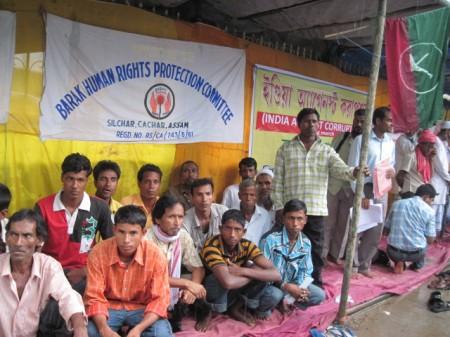 Demonstration demanding release of Akhil Gogoi in Silchar on 1 July, 2011 (4)