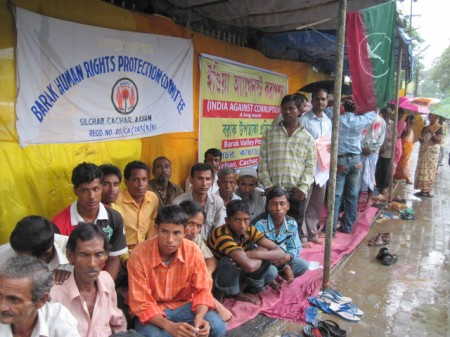 Demonstration demanding release of Akhil Gogoi in Silchar on 1 July, 2011 (5)