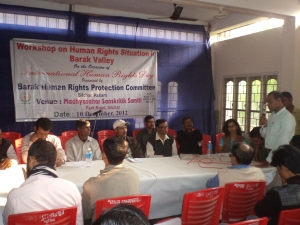 Consultation on human rights situation in Barak valley on 10 December, 2012